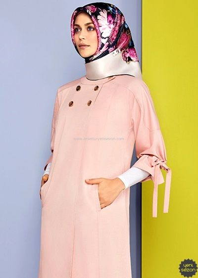1aadb27ad6dd5 Armine Yazlık İnce Kap Modeli | Fashion in 2019 | Kaptan, Günlük ...