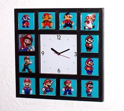Click Here. Double your traffic. Get Vendio Gallery - Now FREE! Payment | Shipping | Additional Information Super History of Nintendo MARIO Clock with 12 images Click to View Image Album Say goodbye t