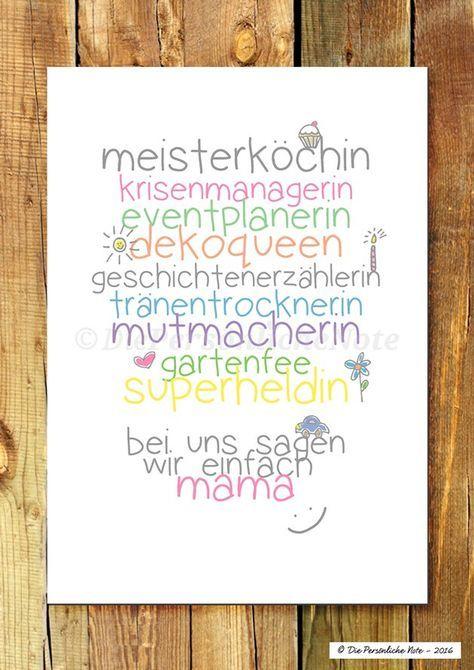 Druck/Print: Für Mama - nicht nur zum Muttertag