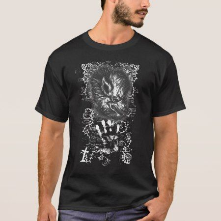 Intricate Werewolf T-Shirt - click/tap to personalize and buy