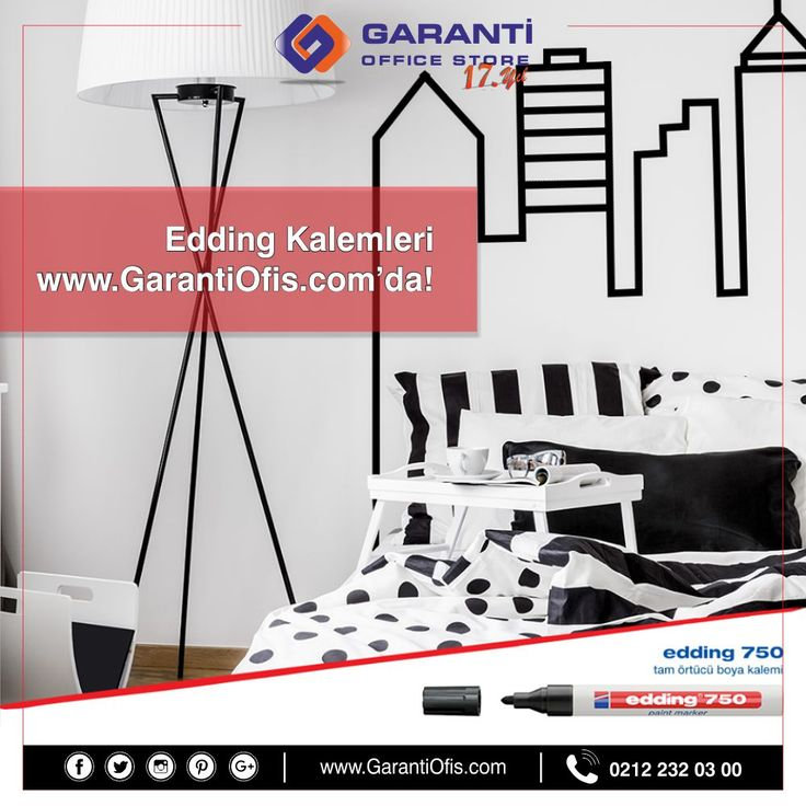 Edding permanent kalemleri en uygun fiyat ve zengin ürün çeşidi ile GarantiOfis.com'da!  #edding #permanentmarker #eddingpermanent #garantiofis
