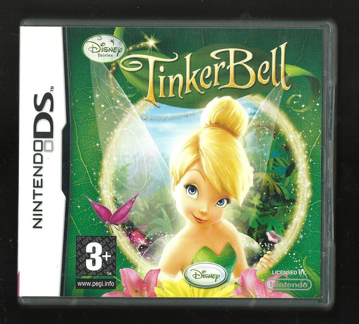 Disney fairies TINKERBELL Nintendo Ds lite xl (plays 3ds in 2D)