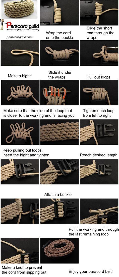 ¿Cómo hacer un cinturón paracord - Paracord gremio