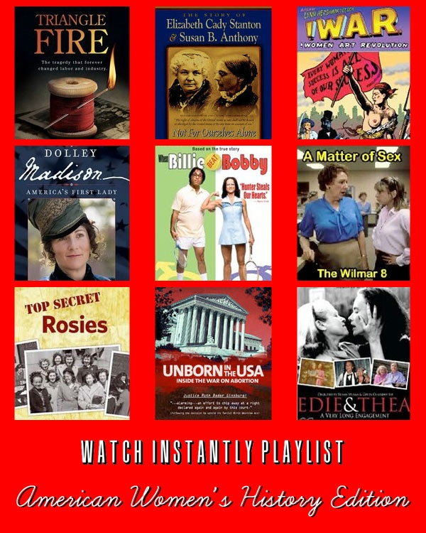 Netflix Watch Instantly American Women's History Playlist