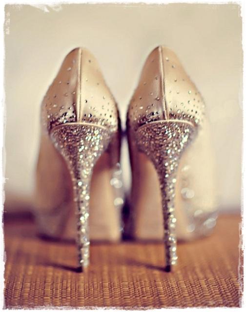 Sparkly heels.