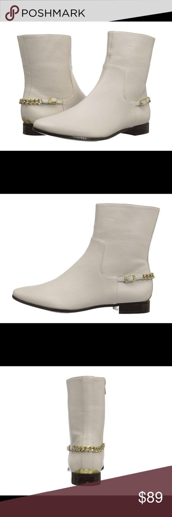 Brand New Calvin Klein Ankle Bottie Stunning  genuine leather soft white ankle bottie. Brand new in original box. Calvin Klein Shoes Ankle Boots & Booties