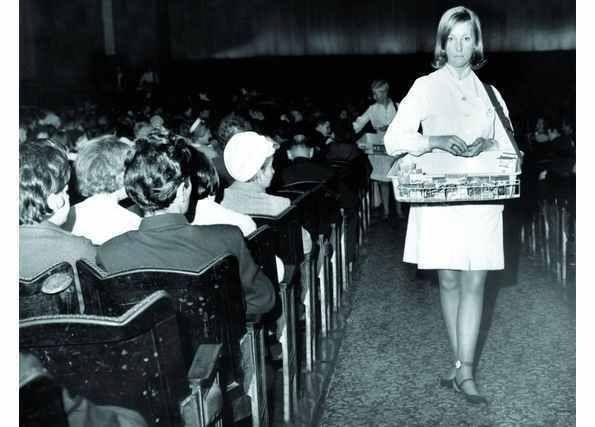 The usherettes would appear at the interval and the knack was to time your scoot down the aisle to get in first for your tub of ice cream.