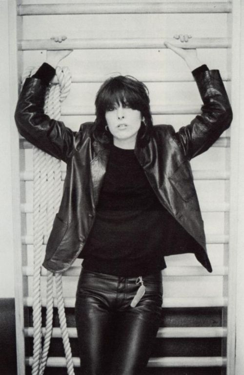 Picture of Chrissie Hynde... When I am feeling particularly badass, this is what I'm going for ;) Just doesn't get any better than her.