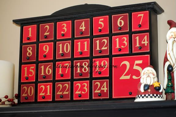 Christmas Advent Calendar - The Idea Room - This one includes a list of activities for each day....Love!