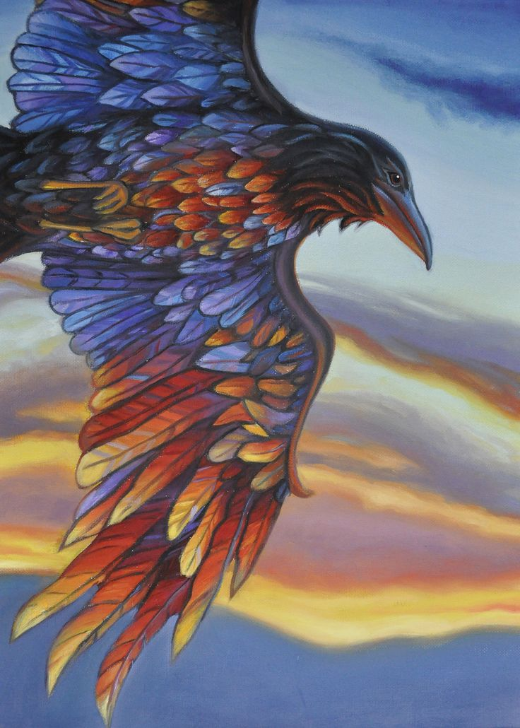 """Raven Steals the Light ~ 18"""" x 24"""" oil on canvas by Tahirih Goffic"""