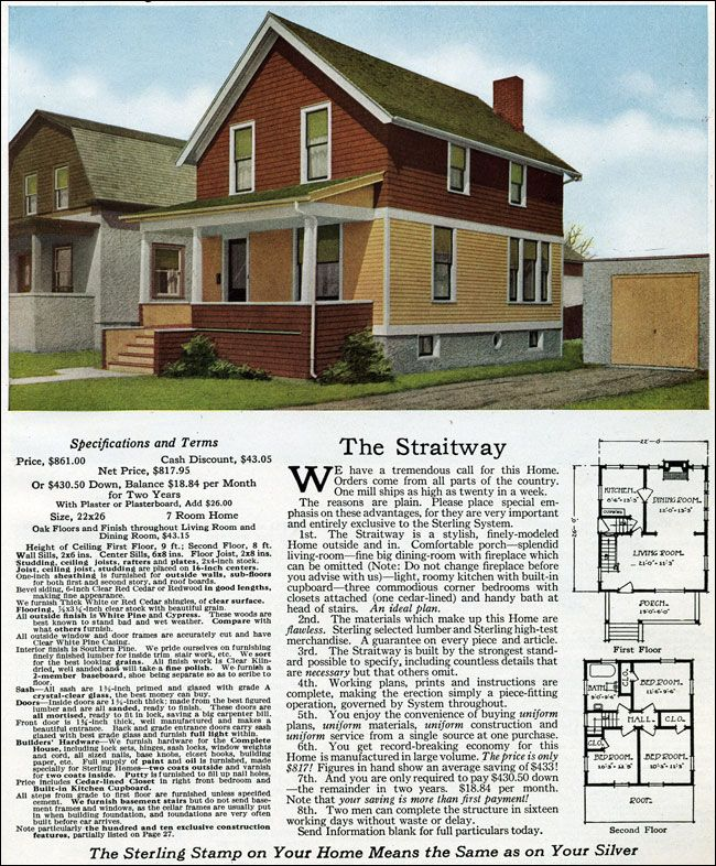 1916 sterling straitway house plans pinterest for Sterling plan