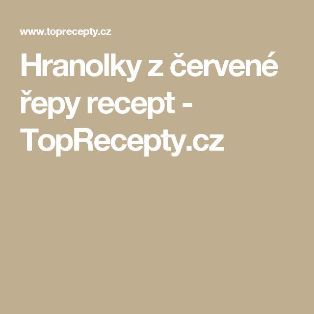 Hranolky z červené řepy recept - TopRecepty.cz