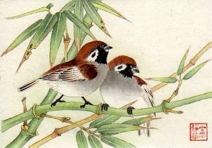 Bamboo Guests - Original Fine Art for Sale - © Jinghua Gao Dalia