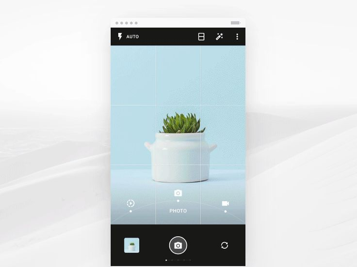 Camera UI flow motion preview for android OS app by Gleb Kuznetsov✈