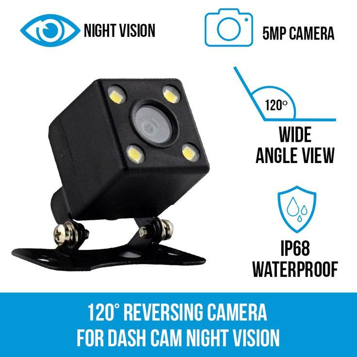 120° Reversing Camera for Dash Cam Night Vision | Elinz
