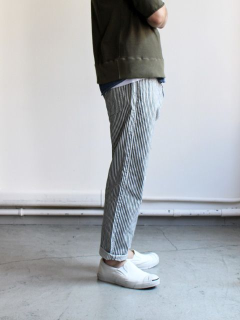 Ordinary fits ANKLE DENIM PANTS - Hickory
