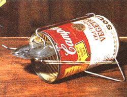 Make a homemade mouse trap from an old soup can. A classic article from the MOTHER EARTH NEWS archives.