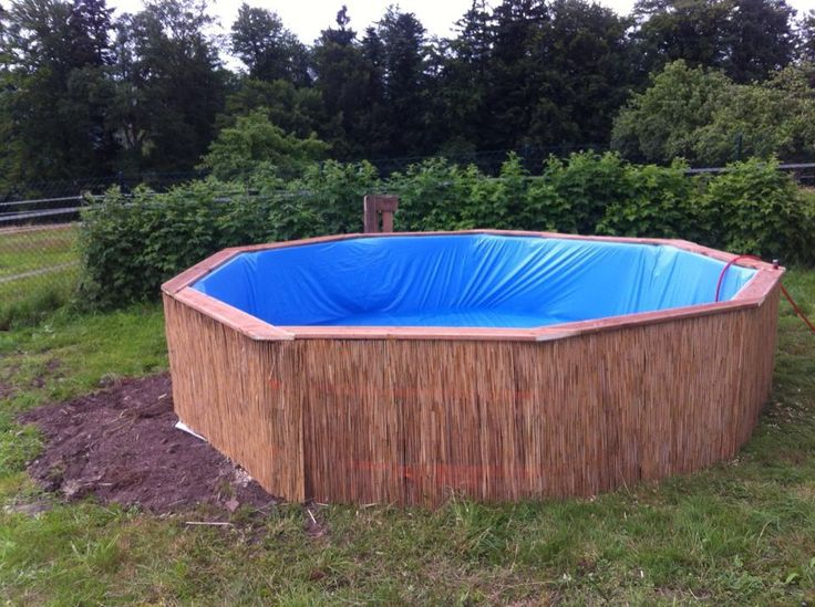 DIY Swimming Pool - How To Make A Homemade Pool With 10 Pallets and $80