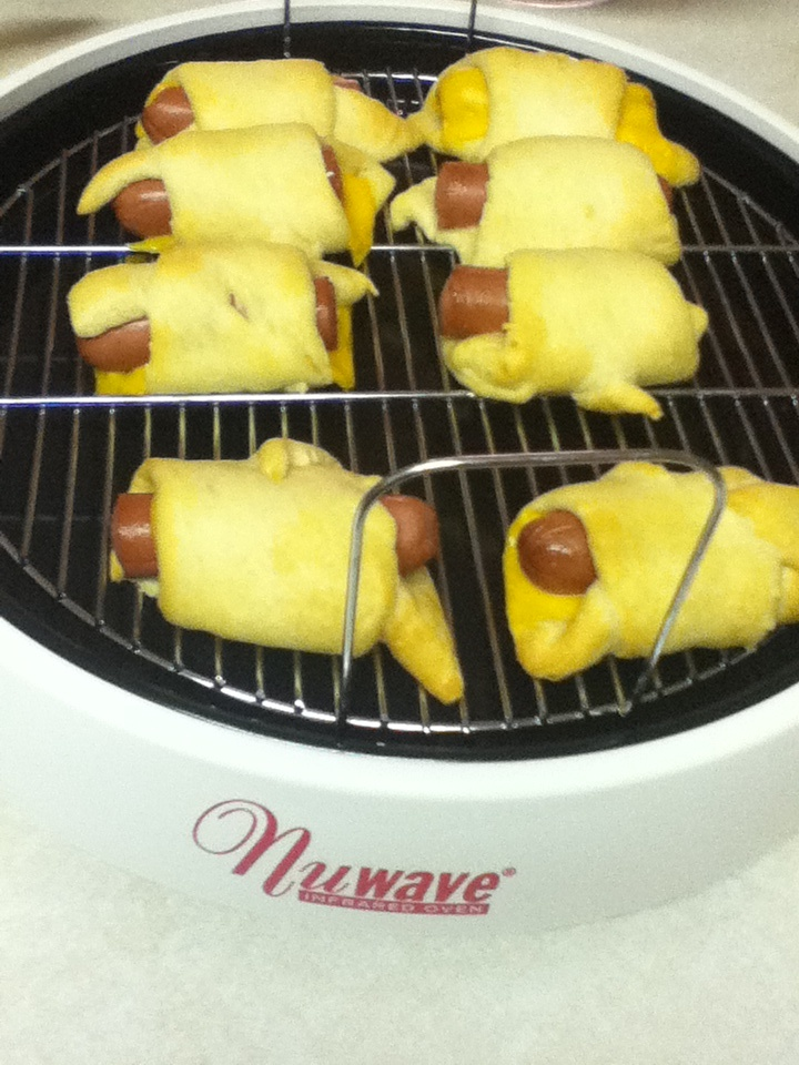 David K. used his NuWave Pro to make Pigs in a Blanket in only 7 minutes on Power Level 9. Simple yet tasty.    What appetizers do you make in your NuWave Oven?