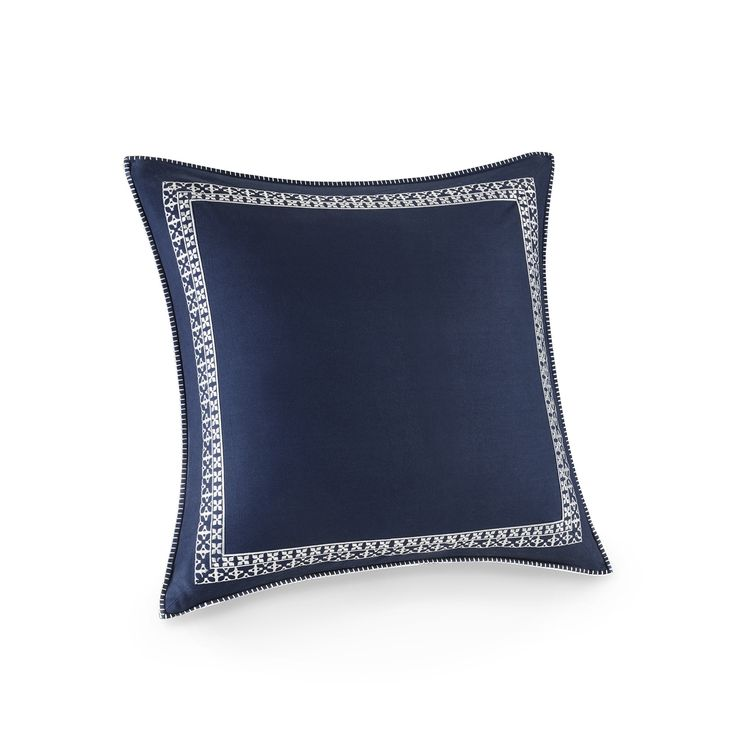 Josie by Natori Mix and Match Euro Sham with Embroidery