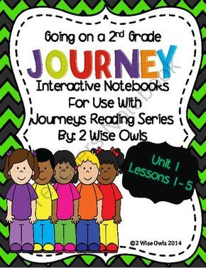 Journeys Interactive Notebook Grade 2 Unit1  from 2 Wise Owls on TeachersNotebook.com -  (102 pages)  - Interactive Notebooks for use with LA Journeys 2014 reading series-2nd Grade