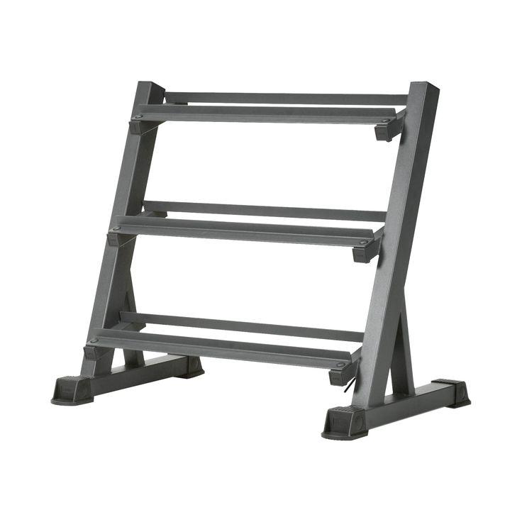 Marcy Deluxe 3 Level Dumbbell Rack (Dbr-86), Black