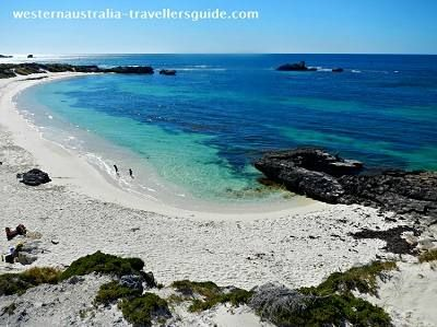 Top 5 Things to do in Perth #3 - Rottnest Island. Click the image of beautiful Pinky Beach on Rottnest and discover the other top 4 things to     do in Perth.