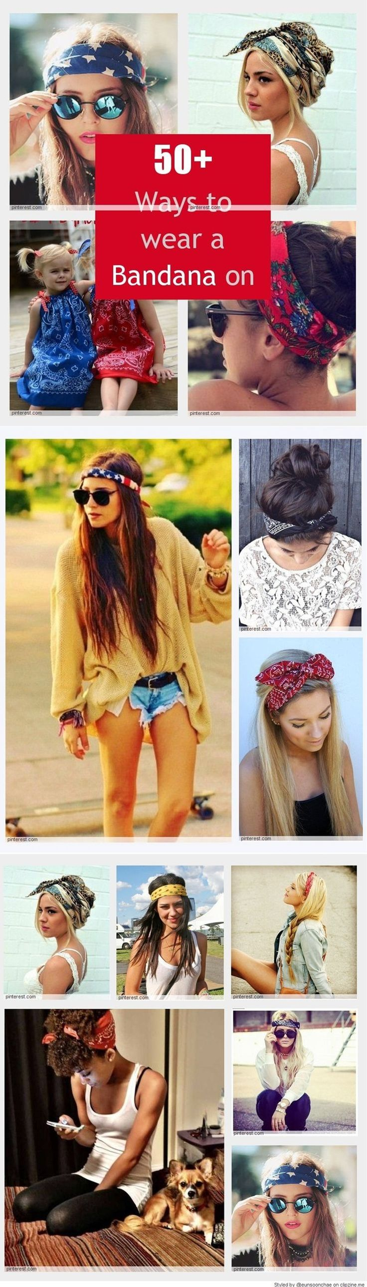 bandanas just add flare plus they're so handy for those dirty hair days!