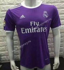 Without LFP 2016-17 Real Madrid Away Purple Thailand Soccer Jersey