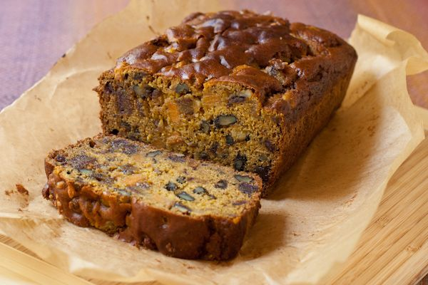 Date Nut Persimmon Bread from Stephanie at Recipe Renovator   Gluten-free and vegan, low sugar