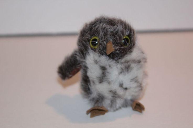 SPOTTED OWL Finger Puppet # 2638 ~FREE SHIPPING in USA ~  Folkmanis Puppets #Folkmanis #PlushFingerPuppet