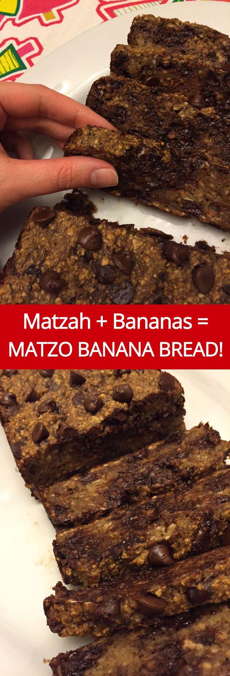 Matzo Meal Banana Bread Recipe from MelanieCooks.com - Perfect For Passover!