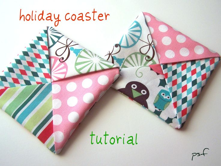 POPPYSEED FABRICS: Holiday coaster tutorial (updated)-last min holiday gifts