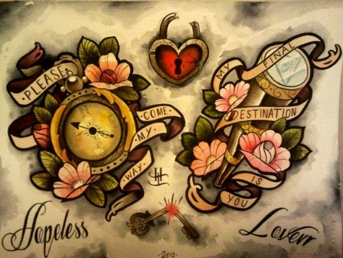 This would be such and adorable couple tattoo