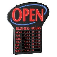 "NEWON LED Open Sign with Digital Business Hours, 20.4"" - Sam's Club"
