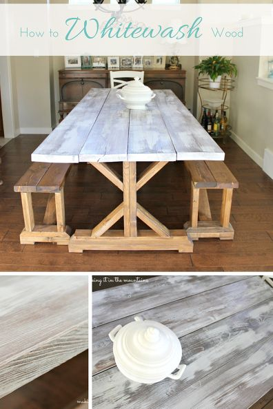 Yes! I've been looking for a tutorial on how to whitewash wood for the longest time! This is awesome and her results are SO gorgeous!