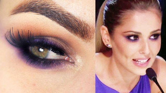 Tutorial – Maquiagem roxo da Cheryl Cole no X Factor