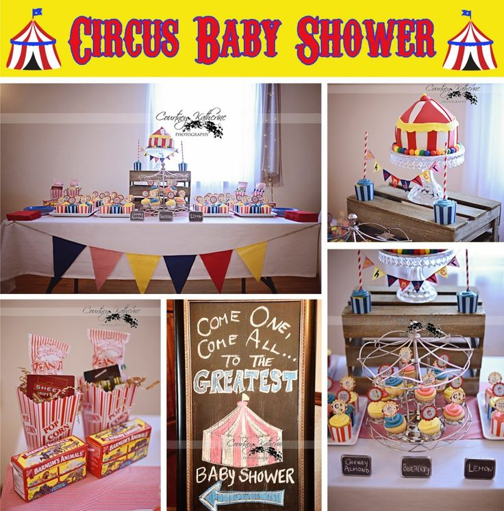 25 best ideas about circus baby showers on pinterest elephant party elephant birthday themes - Carnival themed baby shower ideas ...