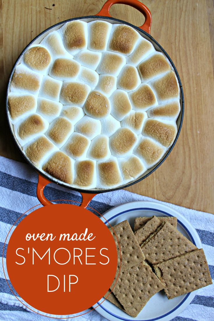 There's no campfire needed when you have S'MORES DIP!  This recipe is awesome!  #HersheysSummer #ad