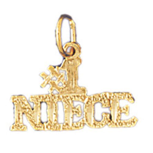 14K GOLD SAYING CHARM - #1 NIECE #9998