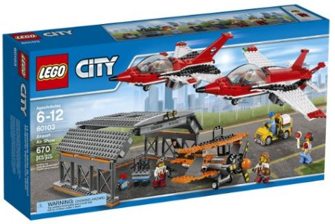 He'll love creating his own air show with this impressive LEGO CITY AIRPORT AIR SHOW BUILDING KIT. The set has everything he needs to build 2 fighter jets and an old-fashion prop plane as well as a hangar and mechanic.