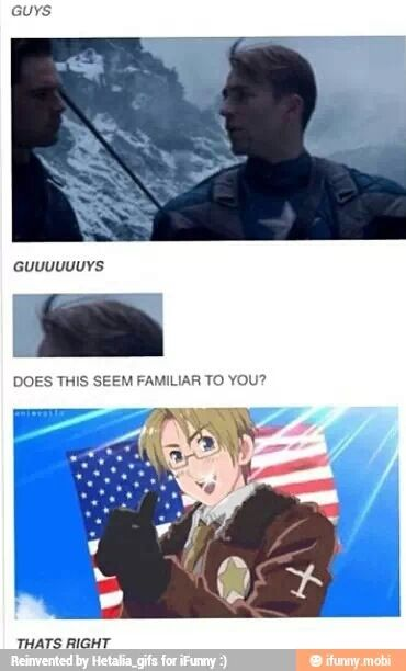 Actual proof that Captain America really is America from Hetalia