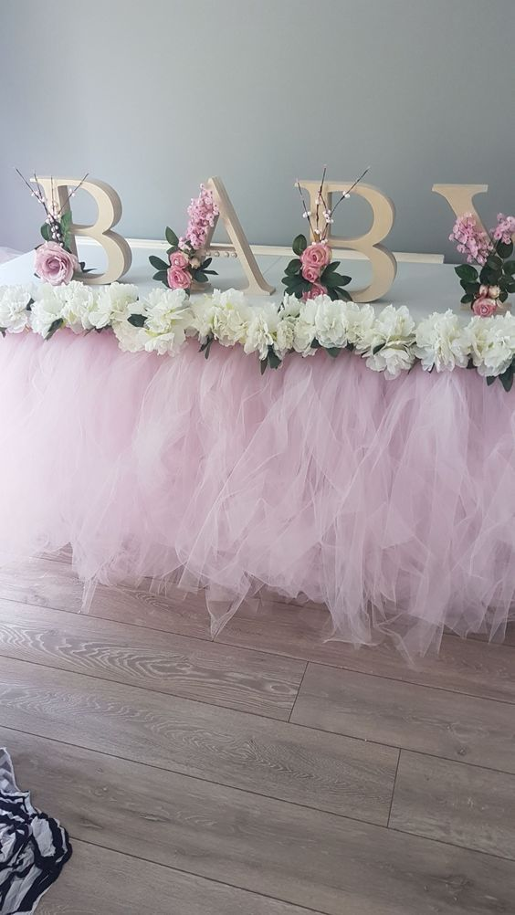 Diy Shabby Chic Easy, Budget Friendly Baby Shower Ideas For Girls | Baby