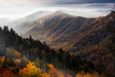 Geology of the Appalachian Mountains: A sunrise in the Great Smoky Mountains National Park