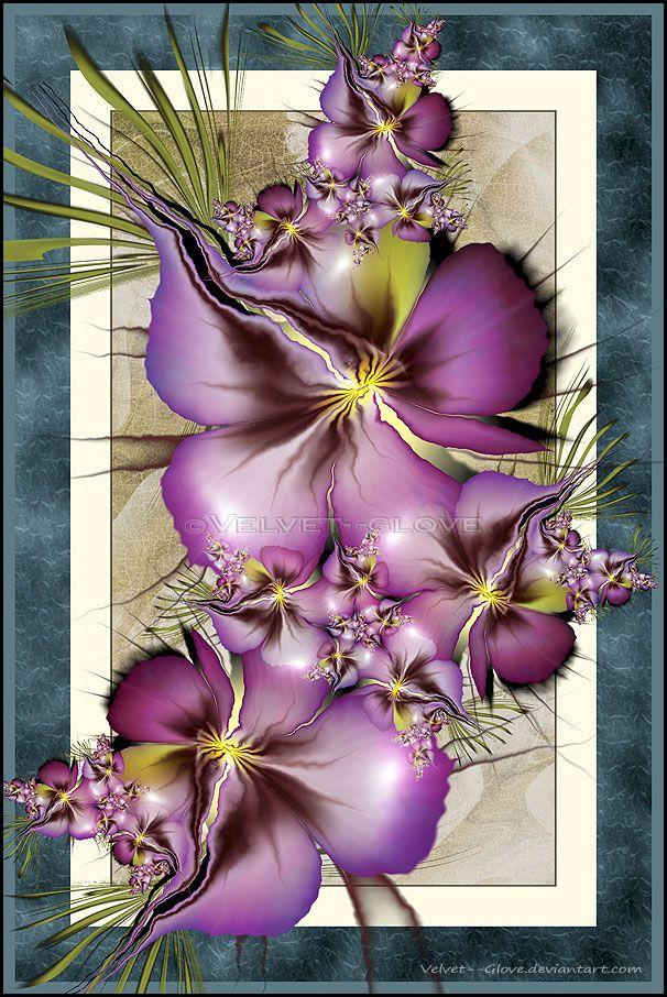 """""""Mrs. Granville's Bouquet"""" by Chris Martin a.k.a. Velvet Glove. [Fractal Art]"""