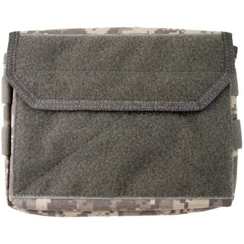 "Maxpedition Wideload Combat Admin Pouch, DFC (Digital Foliage Camo) by Maxpedition. $34.62. Overall external dims:  9"" wide x 6.5"" high x 1.5"" thick. Bag contains a velcro sealed pocket for extra security.. Maxpedition's new WIDELOAD Combat Admin Pouch is our MOLLE-compatible large-size Admin/ Organizer/ Patch attachment platform (fits large Law enforcement ID patches) for backpacks and tac vests."