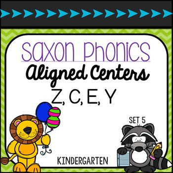 Saxon Phonic Aligned Centers Kindergarten Set... by Mrs LeBlancs Learners | Teachers Pay Teachers