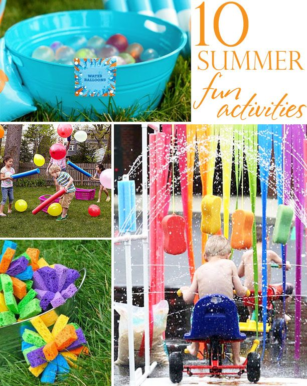 10 summer boredom busters  @Julie Forrest Jones this would be fun for us to do this summer with our porkie poo, sweet tater and aj  @J O Wood --Garrett needs this bike wash. lol