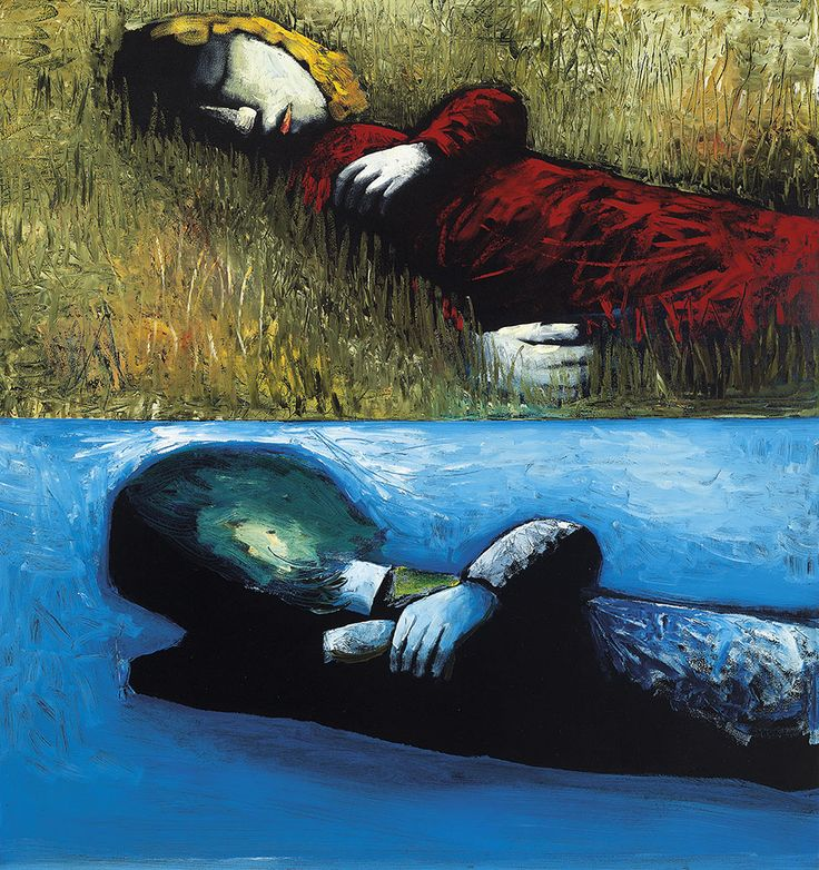 CHARLES BLACKMAN  born 1928  Double Image III 1961  oil on masonite  128.0 x 122.0 cm