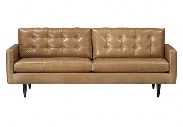 Petrie Leather Sofa Tufted Leather Sofa Best Leather Sofa